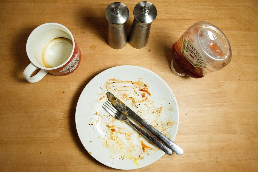 empty plate after meal